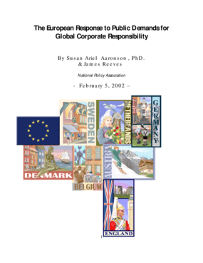 The European Response to Public Demands For Global Corporate Responsibility