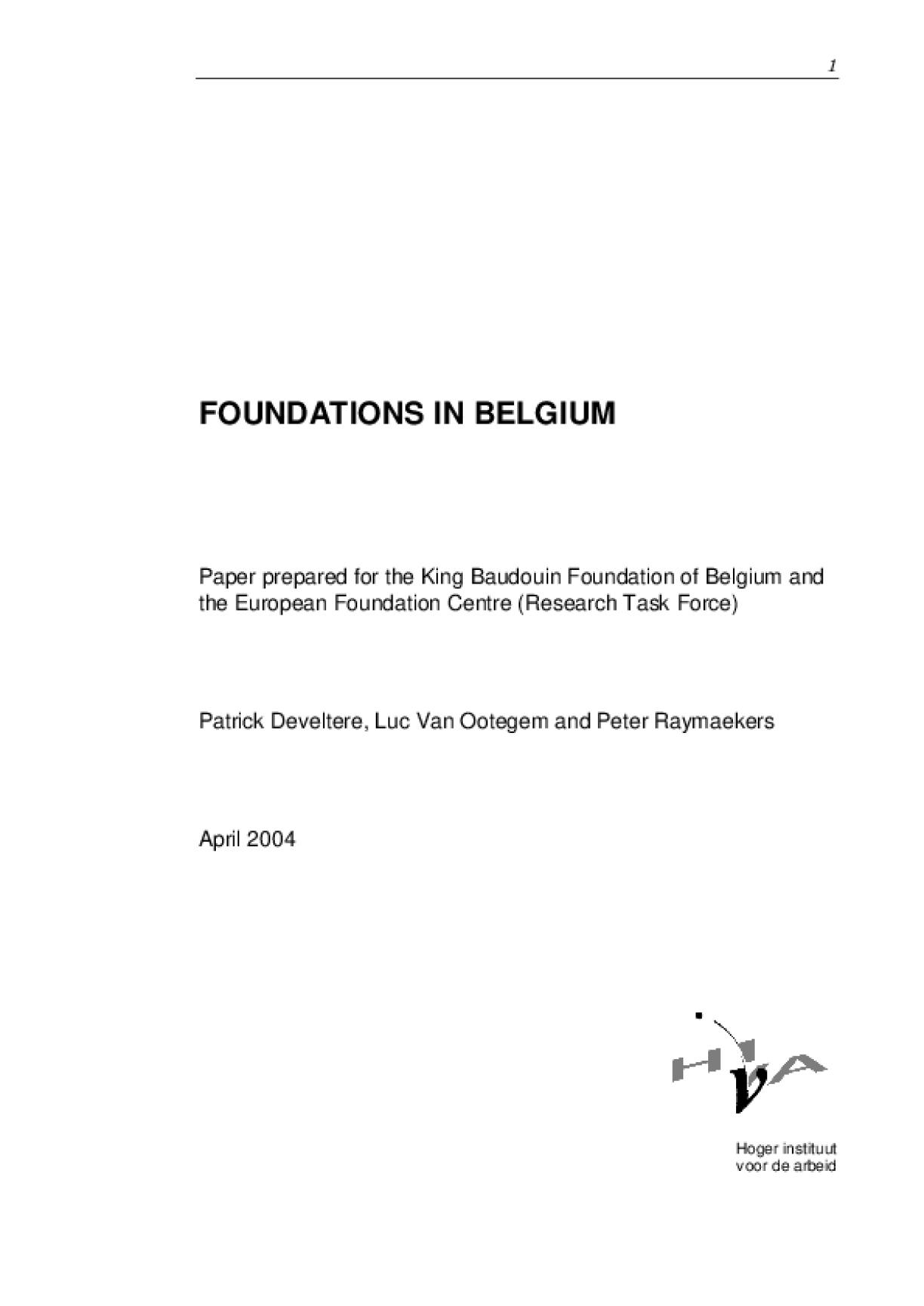 Foundations in Belgium