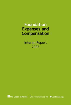 Foundation Expenses and Compensation: Interim Report