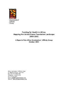 Funding For Health in Africa: Mapping the United States Foundation Landscape 2000-2002: A Report of the Africa Grantmaker's Affinity Group