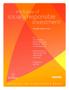 The Future of Socially Responsible Investment: Thought Leader Study