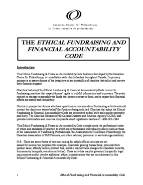 The Ethical Fundraising and Financial Accountability Code