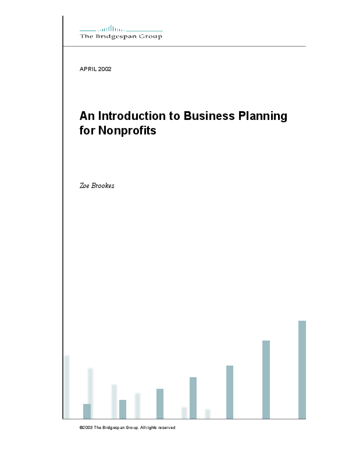 An Introduction to Business Planning For Nonprofits