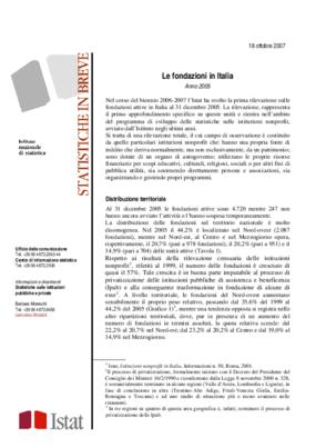 Le Fondazioni in Italia