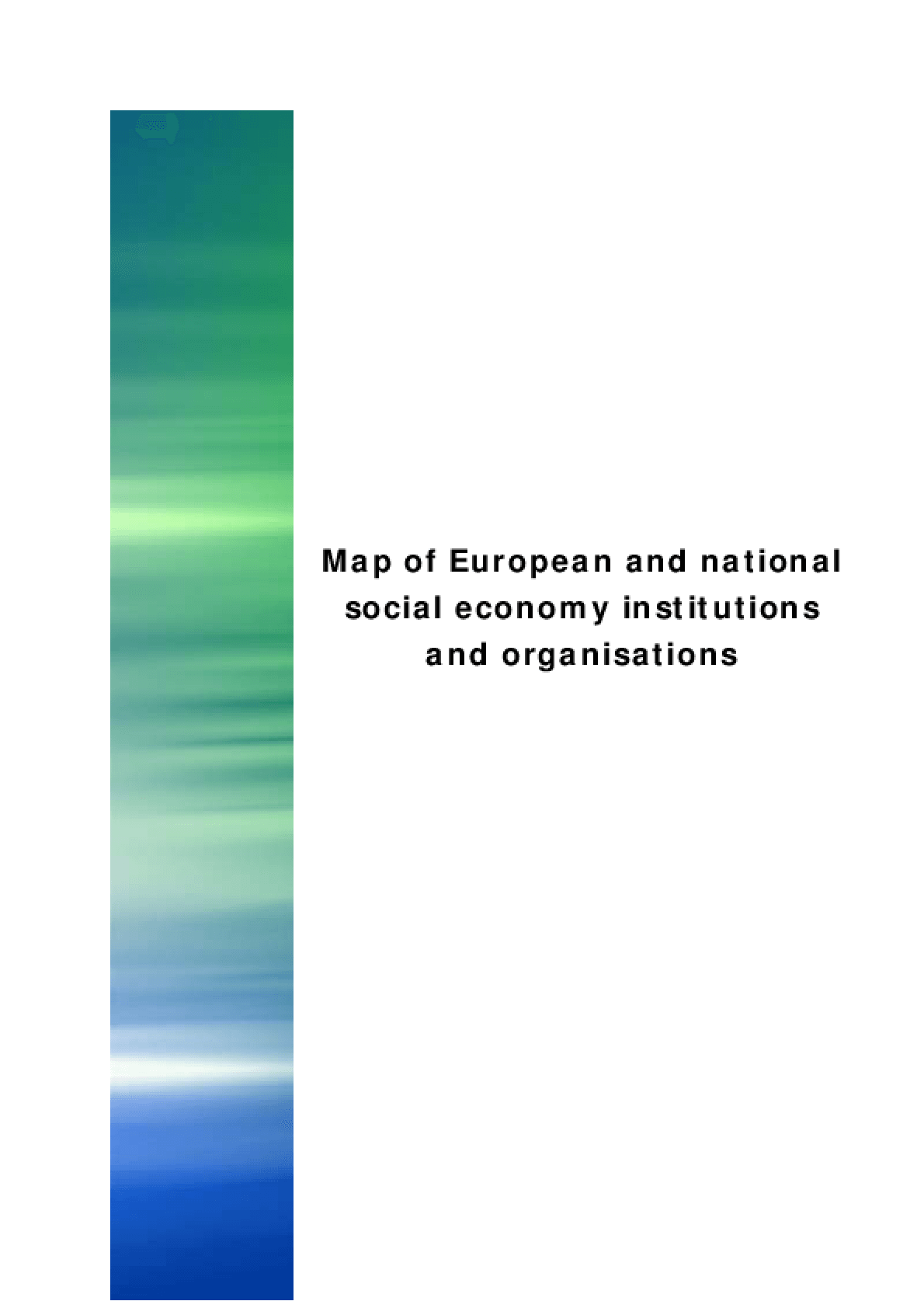 Map of European and National Social Economy Institutions and Organisations