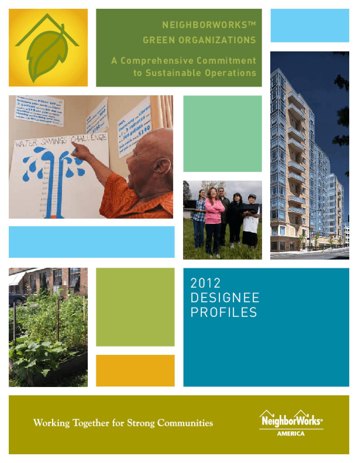 NeighborWorks Green Organizations: 2012 Designee Profiles