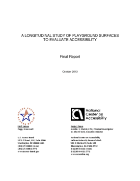 A Longitudinal Study of Playground Surfaces to Evaluate Accessibility