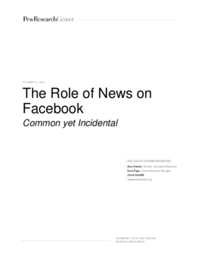 The Role of News on Facebook: Common yet Incidental