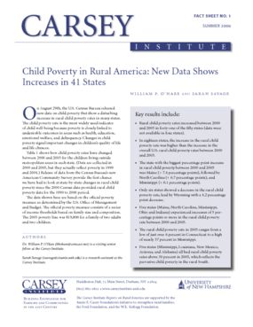 Child Poverty in Rural America: New Data Shows Increases in 41 States