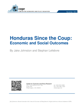 Honduras Since the Coup: Economic and Social Outcomes