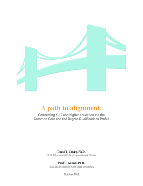 A Path to Alignment: Connecting K-12 and Higher Education via the Common Core and the Degree Qualifications Profile