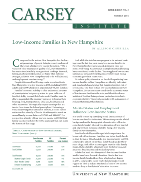 Low-Income Families in New Hampshire