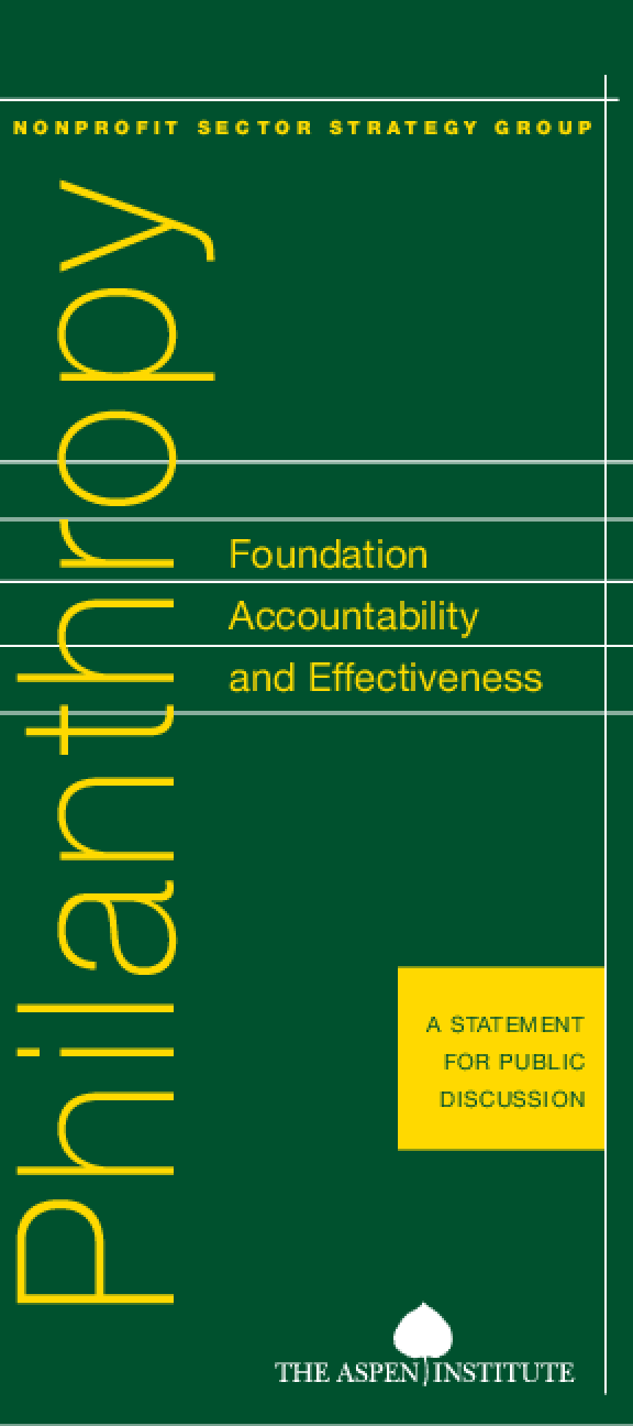 Foundation Accountability and Effectiveness