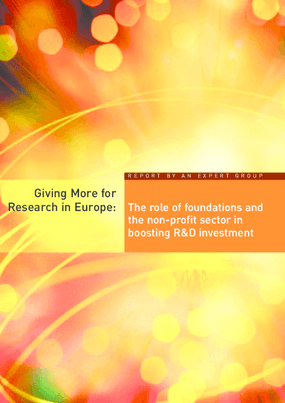 Giving More for Research in Europe: The Role of Foundations and the Non-profit Sector in Boosting R&D Investment