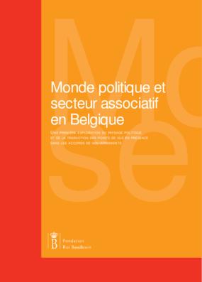 Monde politique et secteur associatif en Belgique: une première exploration du paysage politique et de la traduction des points de vue en présence dans les accords de gouvernements