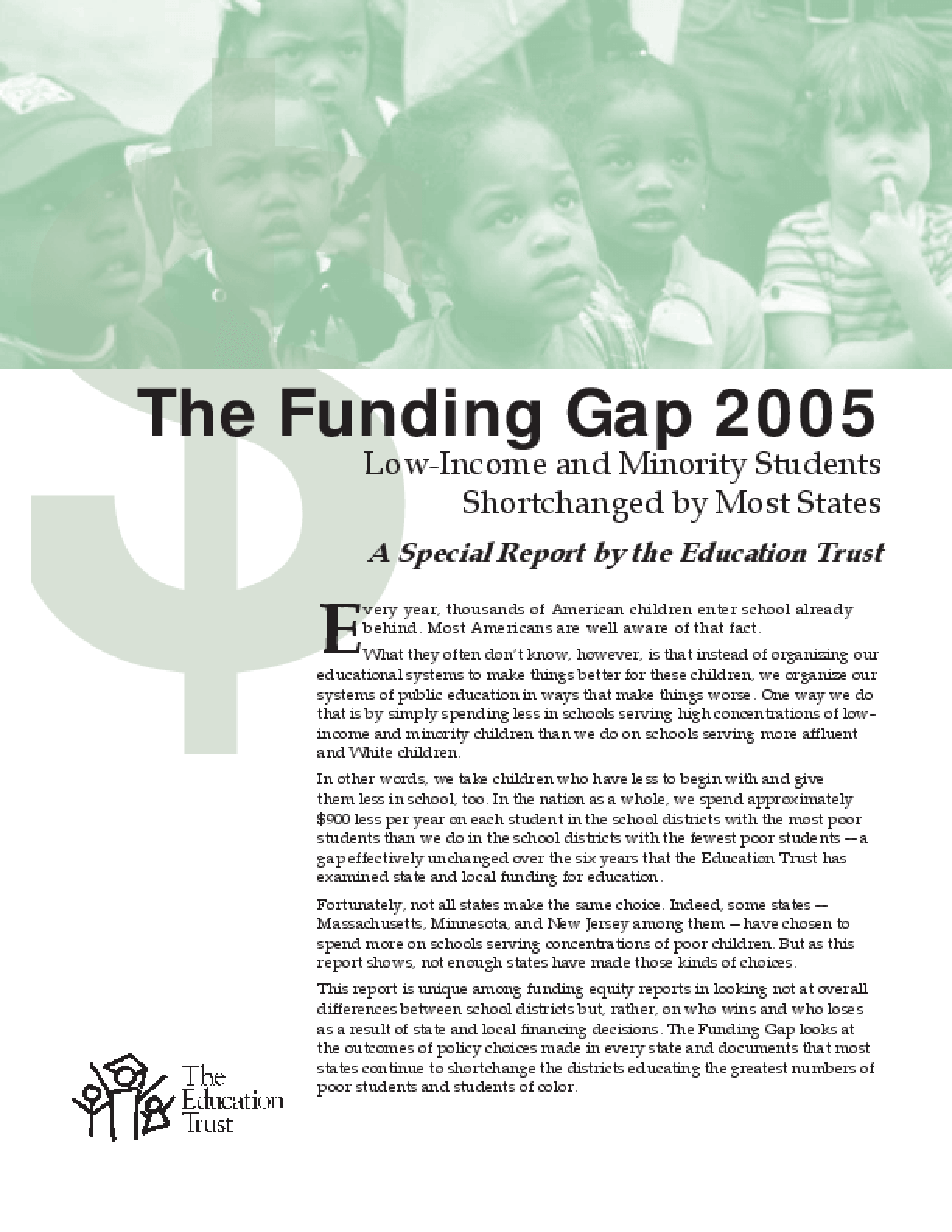 Funding Gap 2005: Most States Shortchange Poor and Minority Students