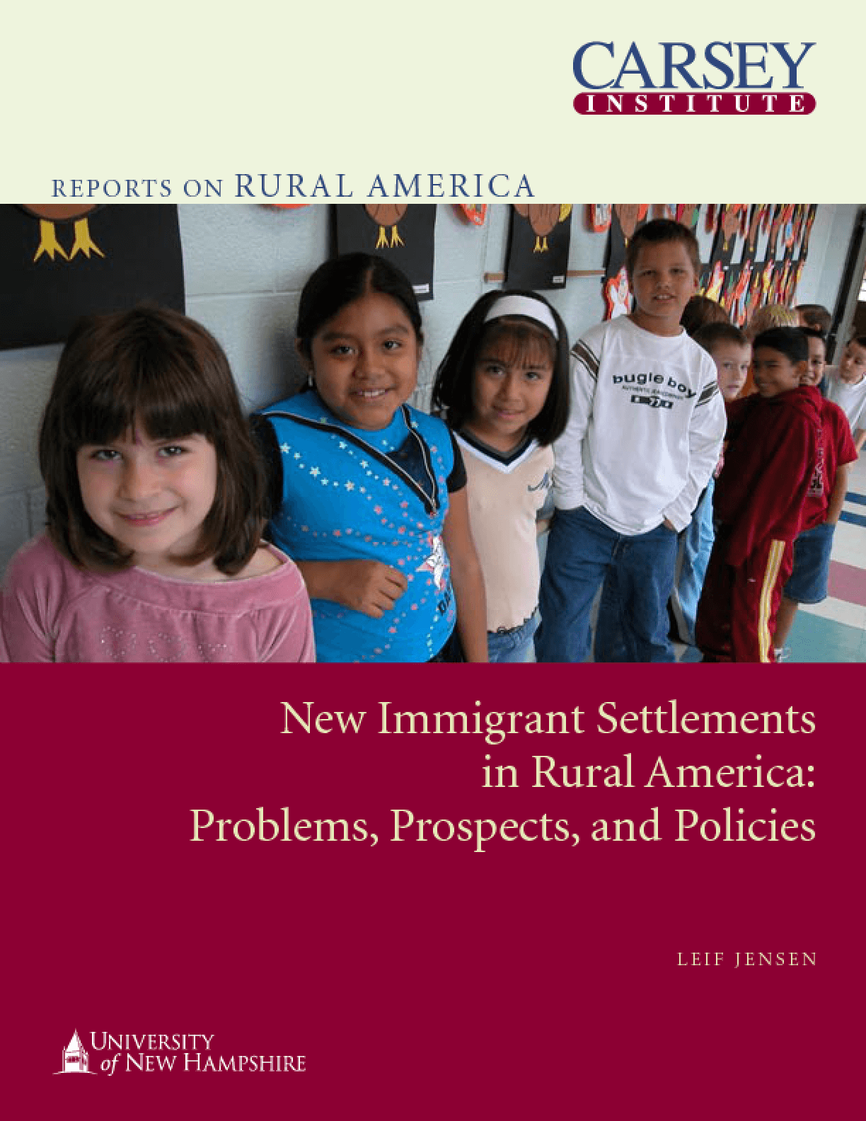 New Immigrant Settlements in Rural America: Problems, Prospects, and Policies