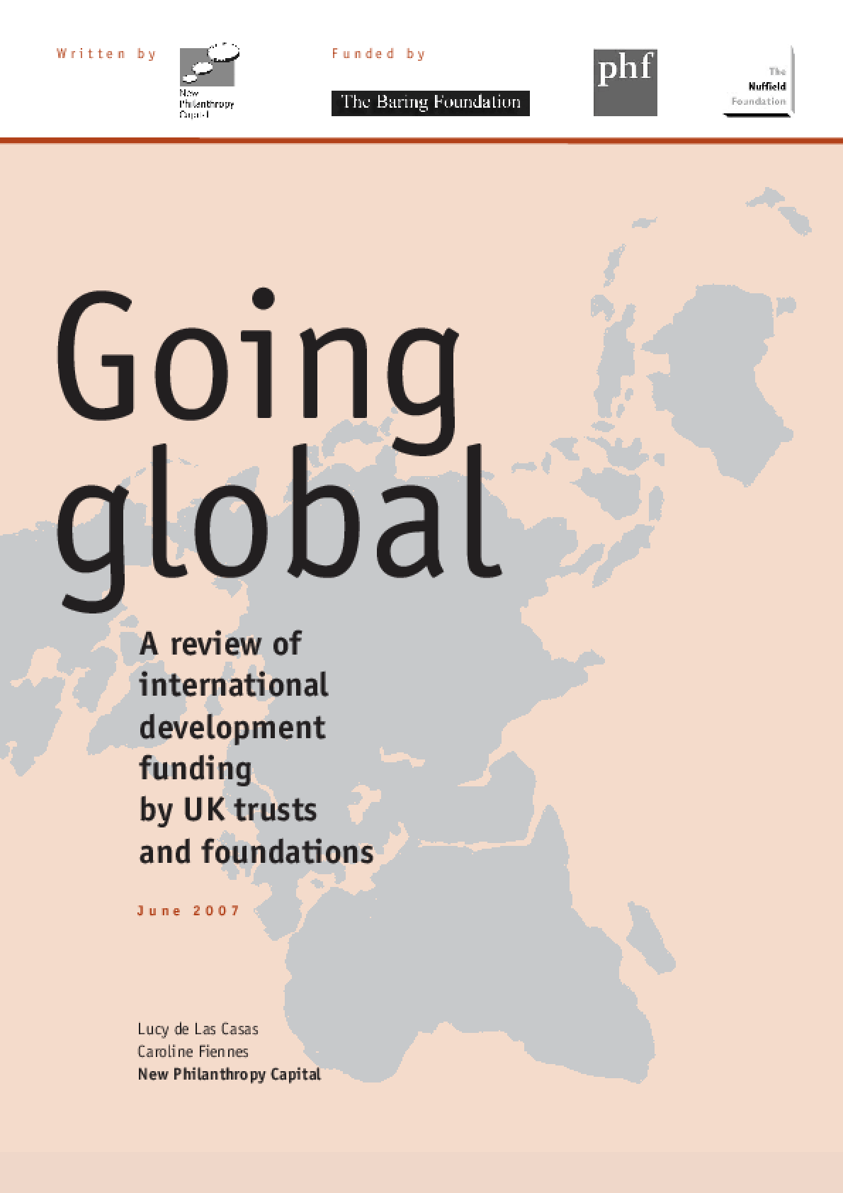 Going Global: A Review of International Development Funding by UK Trusts and Foundations