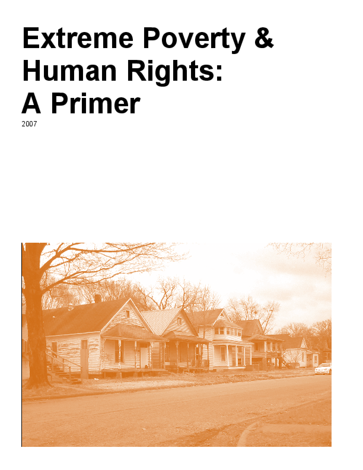 Extreme Poverty and Human Rights: A Primer