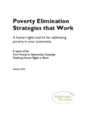 Poverty Elimination Strategies that Work: A Human Rights Toolkit for Addressing Poverty in Your Community