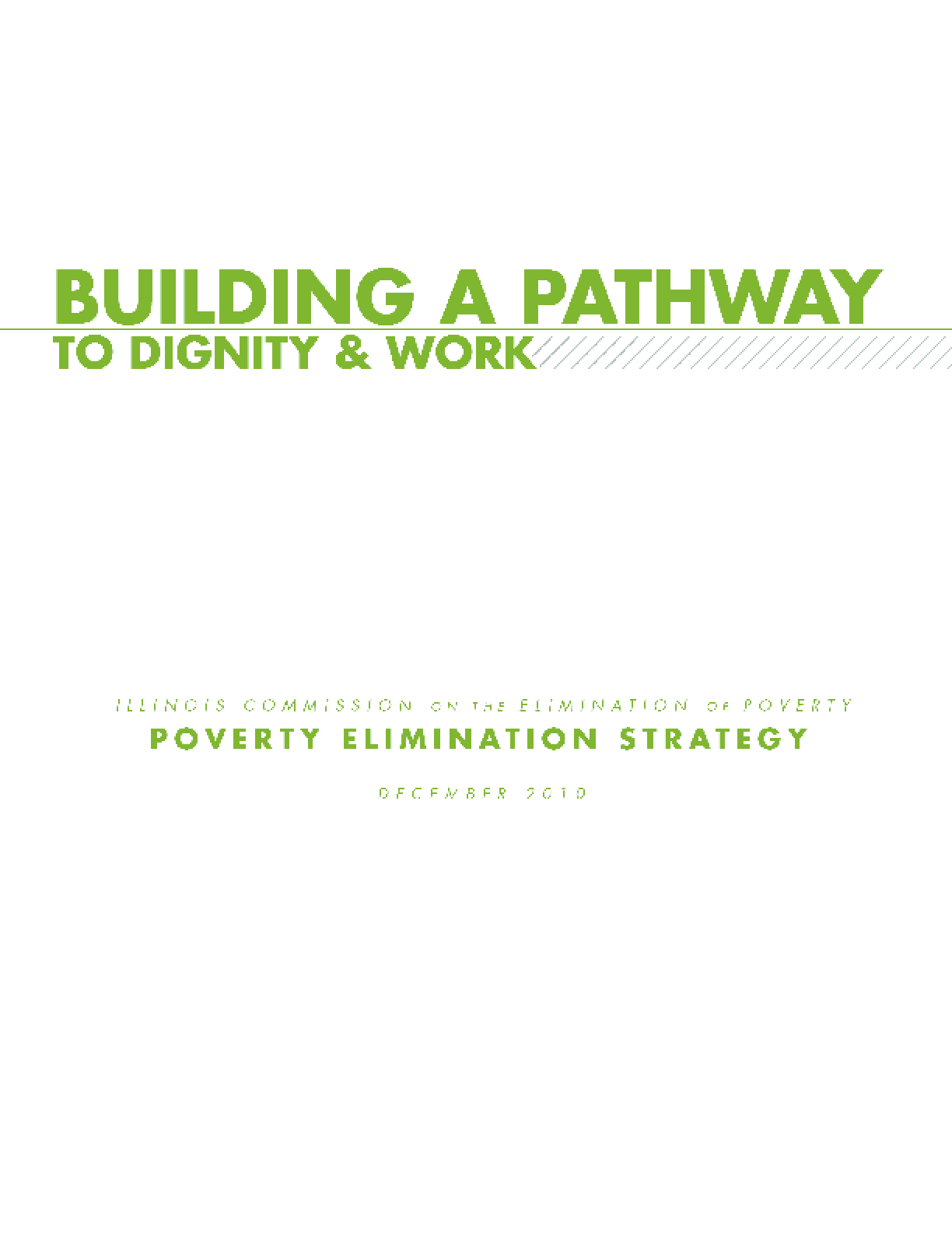 Building a Pathway to Dignity & Work: Poverty Elimination Strategy
