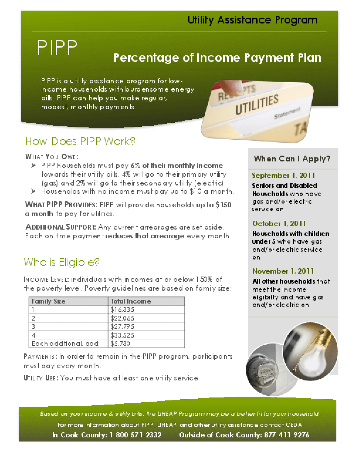 PIPP - Percentage of Income Payment Plan