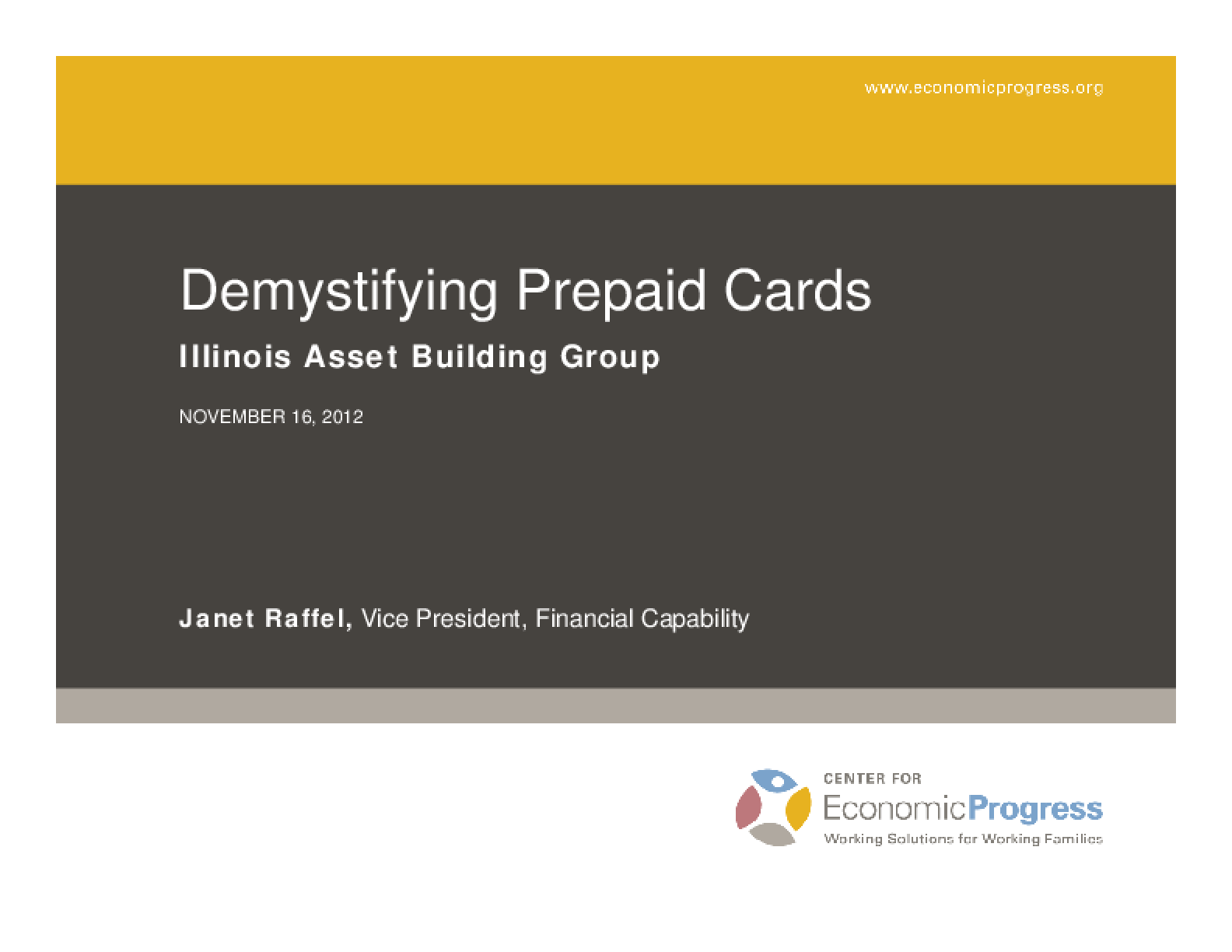 Demystifying Prepaid Cards