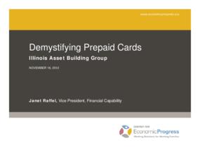 Demystifying Prepaid Cards
