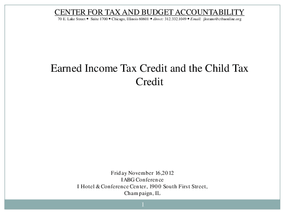 Earned Income Tax Credit and the Child Tax Credit