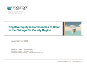 Negative Equity in Communities of Color in the Chicago Six County Region