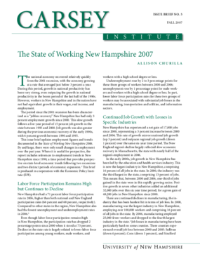 The State of Working New Hampshire 2007