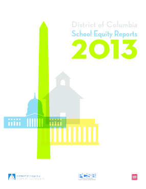 District of Columbia School Equity Reports: 2013 - Part One