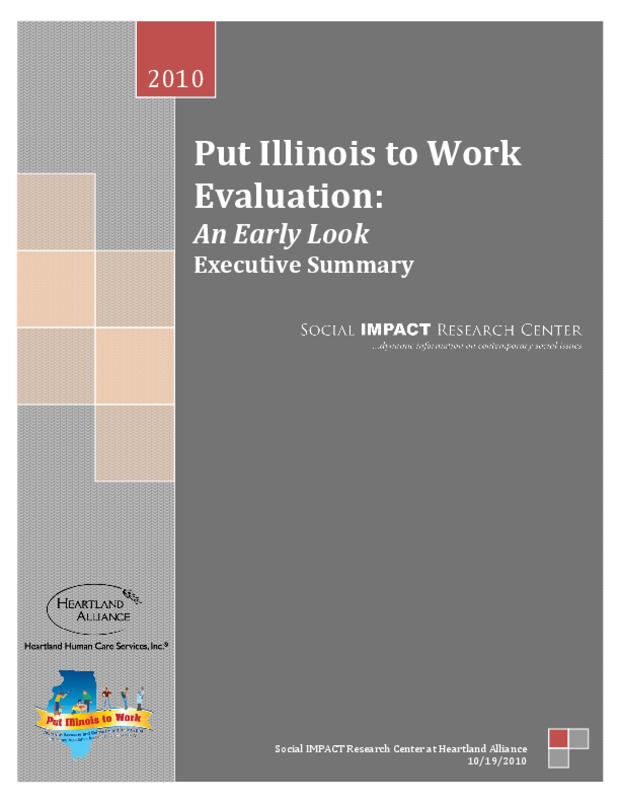 Put Illinois to Work Evaluation: An Early Look - Executive Summary