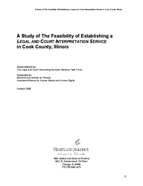 A Study of The Feasibility of Establishing a Legal and Court Interpretation Service in Cook County, Illinois
