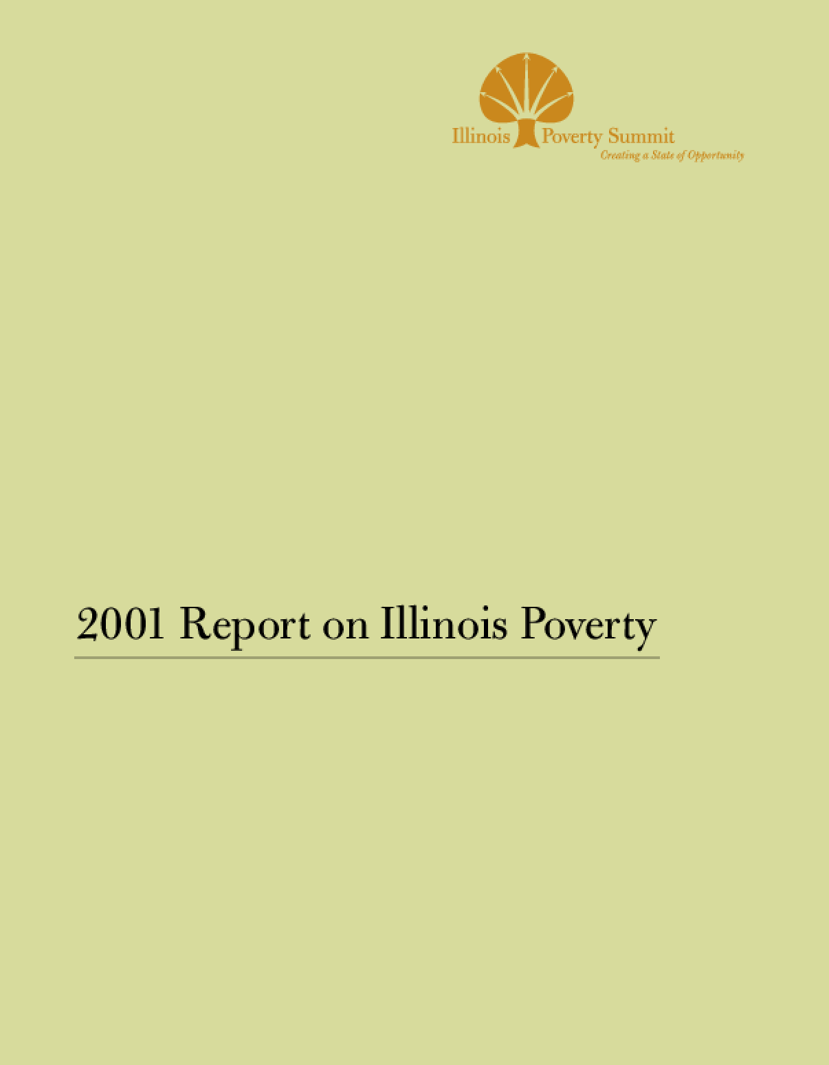 2001 Report on Illinois Poverty