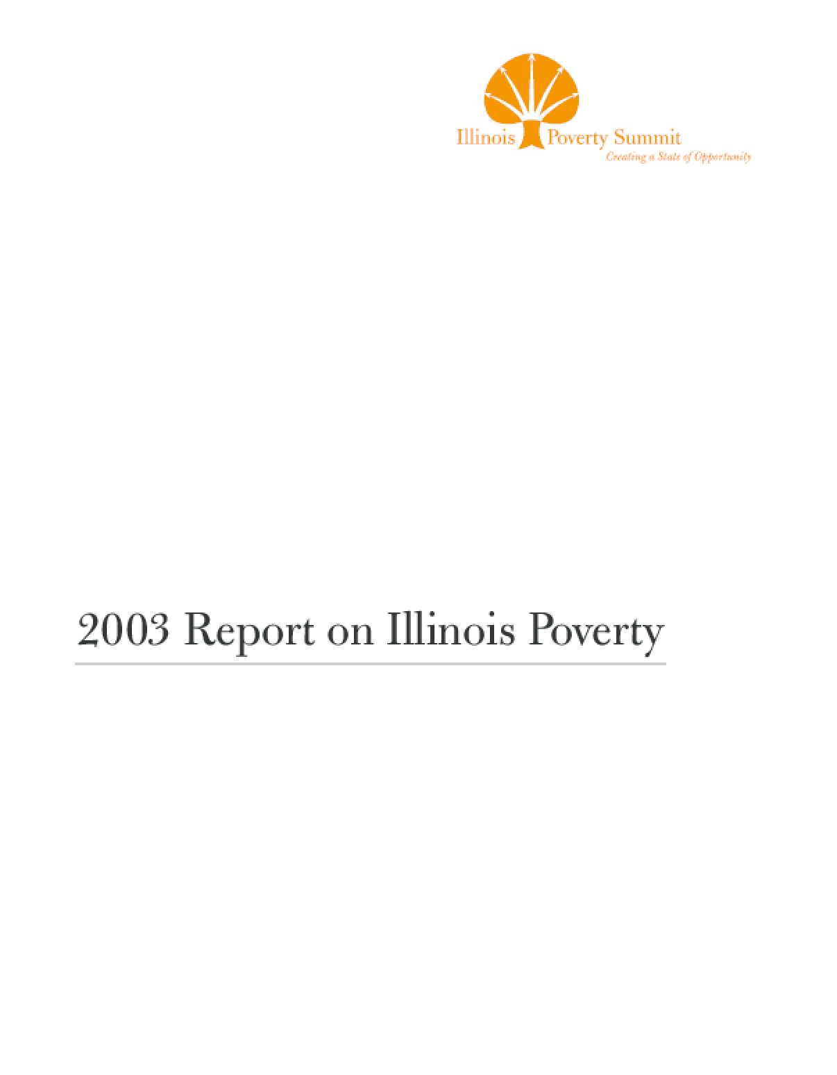 2003 Report on Illinois Poverty