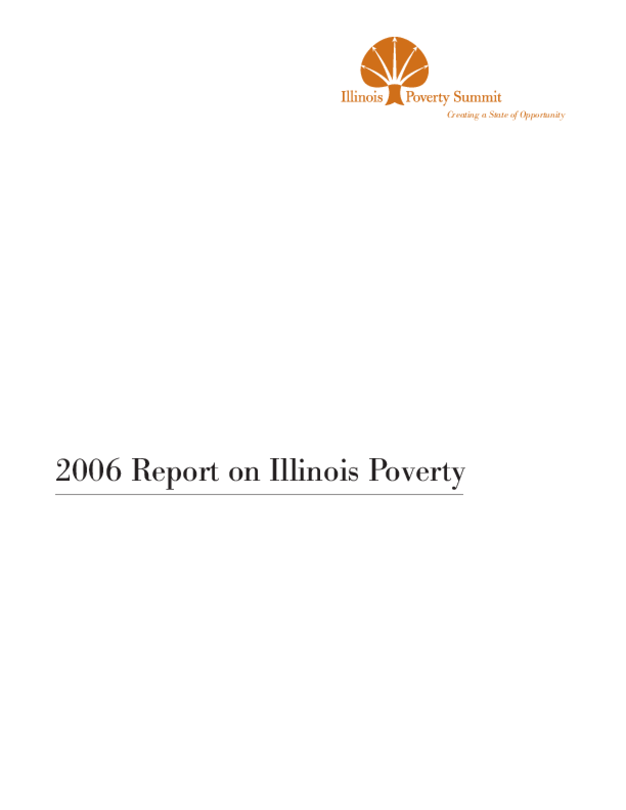 2006 Report on Illinois Poverty