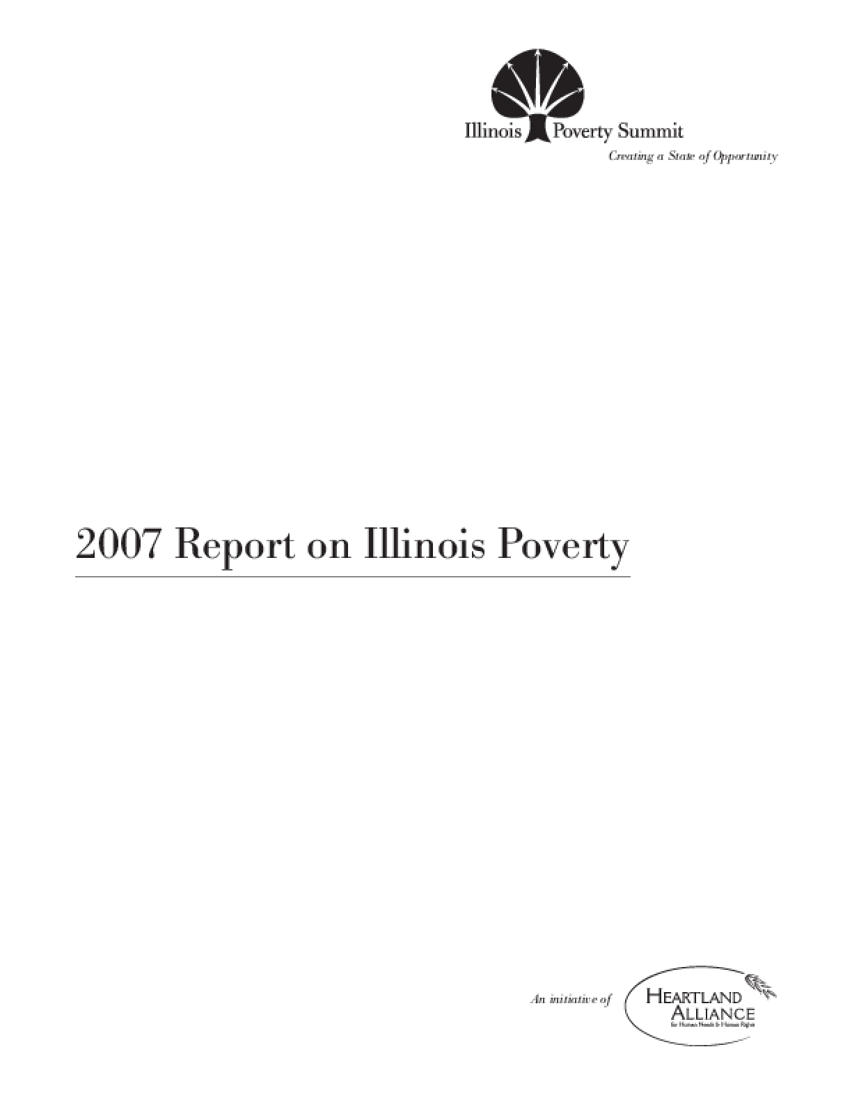 2007 Report on Illinois Poverty