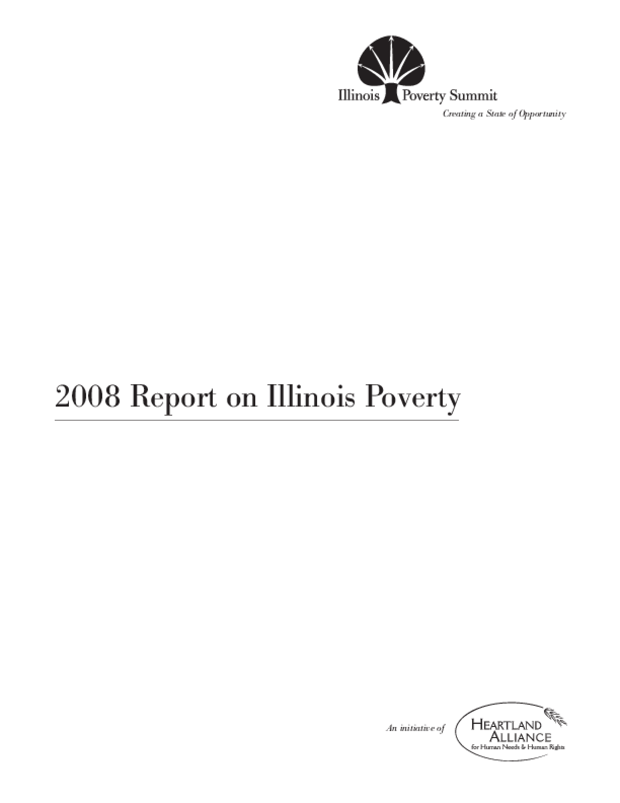 2008 Report on Illinois Poverty
