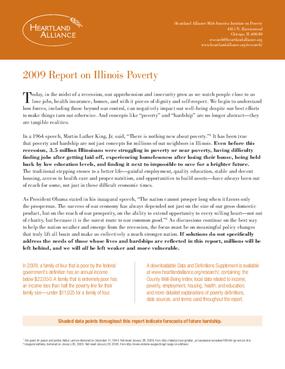 2009 Report on Illinois Poverty