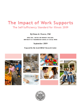 The Impact of Work Supports: The Self-Sufficiency Standard for Illinois 2009