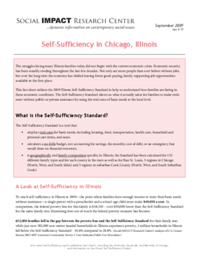 Self-Sufficiency in Chicago, Illinois