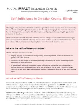 Self-Sufficiency in Christian County, Illinois