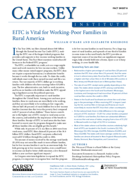 EITC is Vital for Working-Poor Families in Rural America