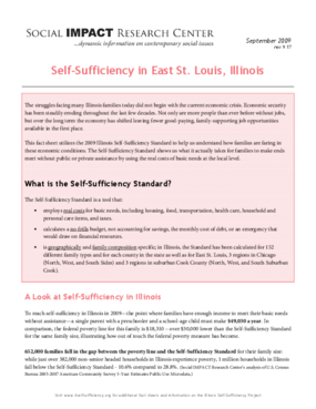 Self-Sufficiency in East St. Louis, Illinois