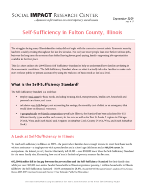 Self-Sufficiency in Fulton County, Illinois