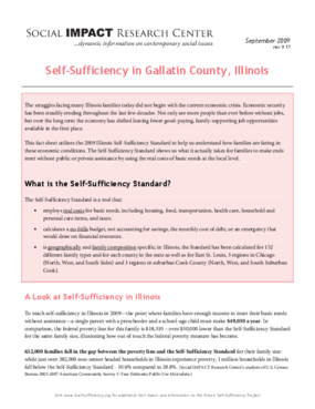 Self-Sufficiency in Gallatin County, Illinois