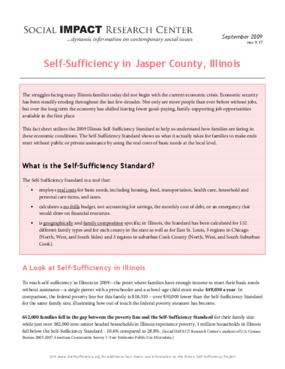 Self-Sufficiency in Jasper County, Illinois