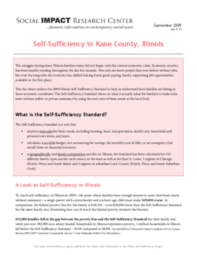 Self-Sufficiency in Kane County, Illinois