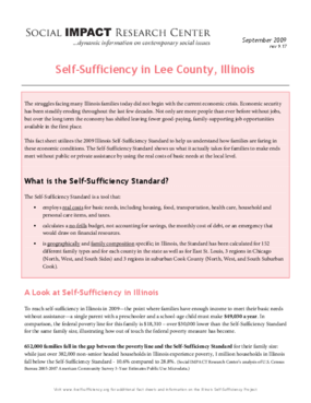 Self-Sufficiency in Lee County, Illinois